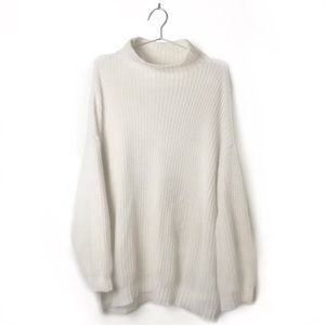 American Eagle Oversized Knit Mock Neck Sweater